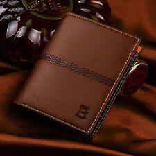 Billfold Mens Leather Bifold ID Card Holder Wallet Handbag Slim Clutch New Gifts