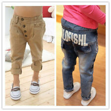 Boys Girls Soft Pants Kids Baby New Trousers Fashion Denim jeans Toddler Costume