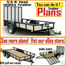 Plans 5 x 8 Utility, Cargo, ATV, Motorcycle Trailer