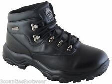 MENS WALKING BOOTS EXTREME WATERPROOF LEATHER BLACK HIKING BOOTS -CLEARANCE