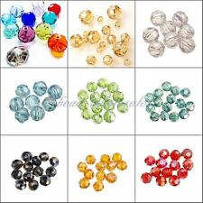 30/50/80pcs Rondelle Crystal Glass Loose Spacer Beads Jewelry Making Findings!!