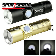 CREE Q5 LED 350LM 3 Modes Flashlight Rechargeable Torch Outdoor Camping Hiking