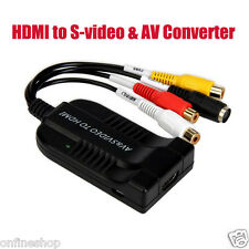 HDMI to S-video & AV Converter AV SVIDEO Output Simultaneously 6 System NTSC PAL