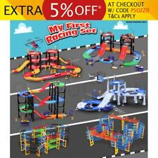 Kids Children Racer Racing Car Play Toys Gift Game Helicopter Track Set