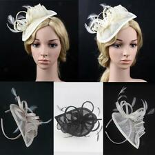 Feather Fascinator Hat on Headband Women Bridal Party Cocktail Hair Accessory