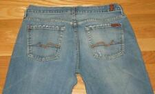 AUTHENTIC 7 FOR ALL MANKIND MENS JEANS RELAXED SIZE 33 X 32 PANTS DENIM MADE USA
