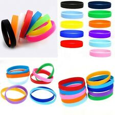 Sport Silicone Wristbands - Wrist Bands - Blank NEW Rubber Bracelets Candy Color