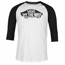 Vans Mens The Wall Raglan T Shirt Summer Casual Short Sleeve Crew Neck Tee