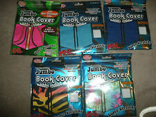 JUMBO Book Cover Super Stretchy XXL Free Bookmark Included Solid Tie Dye Zebra