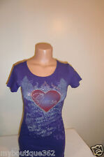 NEW WITH TAG GUESS  DEEP VIOLET W/ GUESS LOGO RHINESTONES