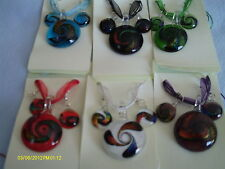 MURANO GLASS CIRCLE NECKLACE & EARRING SET