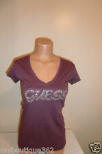 NEW WITH TAG GUESS PURPLE RHINESTONES/STUD LOGO S,ML,XL