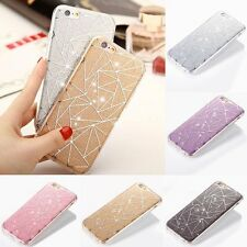 Fashion Bling Clear Rubber Bumper Hard Back Cover Case For Apple iPhone 5s 6 6s