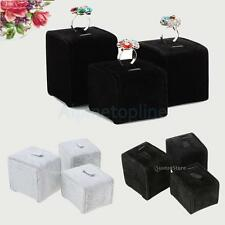 3pcs/Set Earring Ring Ear Studs Velvet Display Stand Holder Jewelry Show Rack
