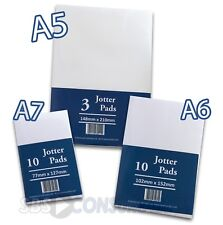 Jotter Memo Pads. Plain White 80gsm Paper. 3 Sizes Available. Jotta Note Pad