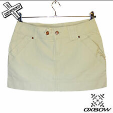 OXBOW 'RIBEIRA' WOMENS MINI SKIRT SAND COTTON SURF SUMMER UK 10 12 14 16 RRP £30