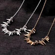 Gothic Punk Rock Spike Cone Stud Rivet Charm Chain Collar Necklace Statement