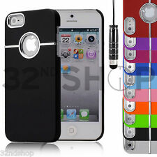NEW STYLISH CHROME SERIES HARD CASE COVER FITS IPHONE 5 FREE SCREEN PROTECTOR