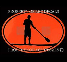 VRS OVAL A SUP STAND UP PADDLE BOARD GUY VINYL CAR DECAL STICKER