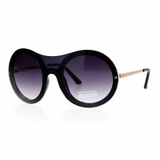 Womens Unique Sunglasses Oversized Round Shield Full Lens Rimless Fashion