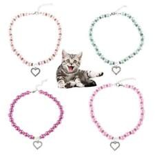 Pet Dog Cat Puppy Cute Pearl Rhinestone Pendant Necklace Jewelry Collar Necktie