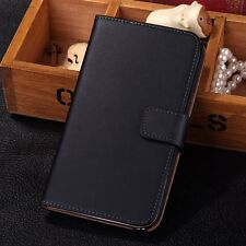 Genuine Leather Flip Card Wallet Case Cover For Samsung Galaxy Note II 2 N7100
