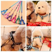 New Training Dog Pet Puppy Cat Adjustable Nylon Harness Lead leash Traction rope