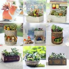 Succulent Planter Flower Plant Bonsai Pot Garden Herb Trough Box Window Basket