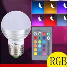 E27 5W RGB LED Light Multi Color Changing Lamp Magic Bulb + Remote Control 220V
