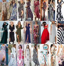 Sexy Womens Long Boho Maxi Evening Party Dress Casual Dress Summer Beach Dresses