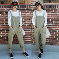New Women's Casual Loose Pants Trousers Overalls Jumpsuits Suspenders Jeans Hot