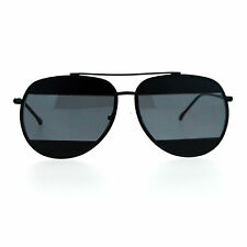 Unique Unisex Aviator Sunglasses Oversized Metal Block Frame Aviators