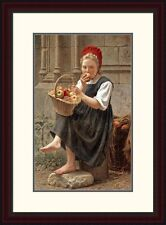 Global Gallery 'The Apple Girl' by Charles-Victor Thirion Framed Painting Print