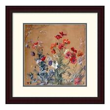 'Poppies, Irises and Blossom' by Jean Brenner Framed Painting Print