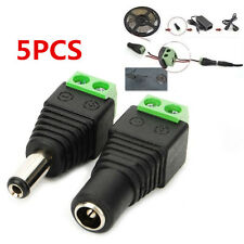 5PCS Power Supply Plug Adapter Connector DC 12V for 5050 3528 LED Strip Light