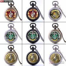 Antique Harry Potter Multiple-Theme Pocket Watch Steampunk Pendant Necklace Gift