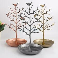 Bird Tree Earrings Bracelet Necklace Jewelry Holder Display Show Stand Rack