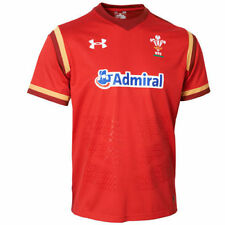 UNDER ARMOUR WRU WELSH WALES RUGBY 2015/16 OFFICIAL SUPPORTERS HOME SHIRT