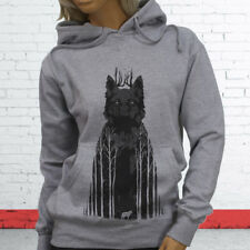 Wild Animal Puppy Forest Coyote Twilight Siberian Wolf Womens Gray Hoodie
