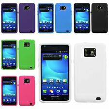 Black/White/Green/Pink/Blue/Purple Silicone Case Skin For Samsung Galaxy S2 i777