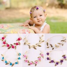 Newborn Baby Girls Toddler Kids Flower Headband Hairband Headwear Photo Prop