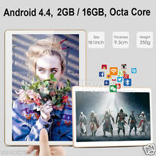 "10"" HD Dual SIM Camera 3G Octa Core Tablet PC Android 4.4 2Gb 16GB Bluetooth"