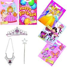 PRINCESS FAIRY TIARA / WAND / NECKLACE PARTY BAG TOYS WITH LOOT BAG OPTION