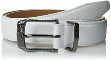 Nike Golf Men's SG Belt with Laser-Etched Buckle White 33mm Width NWT