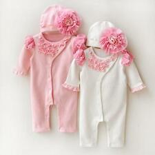 Newborn Baby Girl Clothe Lace Floral Infant Princess Jumpsuit Baby Cotton PHNG