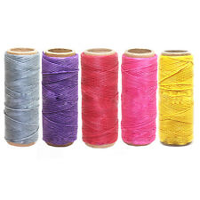 Pro 1pc 50M 1mm Waxed Wax Cotton Cord String Linen Thread Wire Jewelry Bracelet