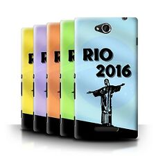 STUFF4 Back Case/Cover/Skin for Sony Xperia C/C2305/Rio Olympic