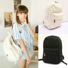Fashion Women Girls Lace Canvas Backpack Zip Schoolbag Cute Double Shoulder Bag