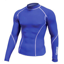 Zimco Winter Compression Jersey Baselayers Thermal Under Top Shirts Skins Blue