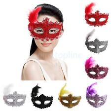 Fancy Dress Feather Lace Eye Mask Masquerade Halloween Party Costume